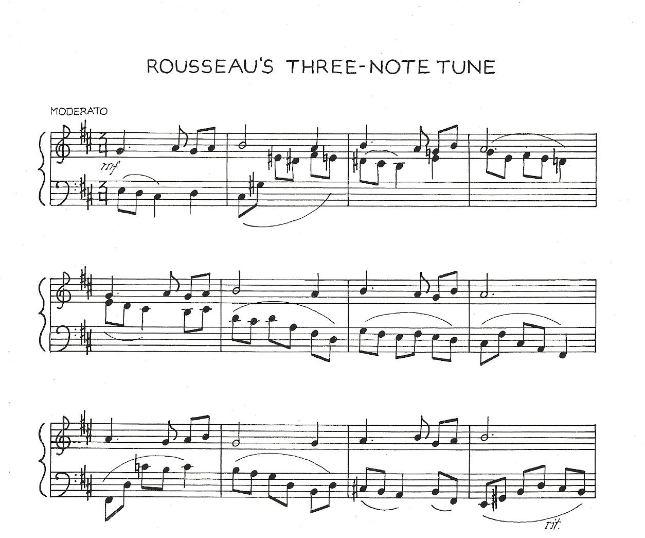 rousseau s three note tune tags